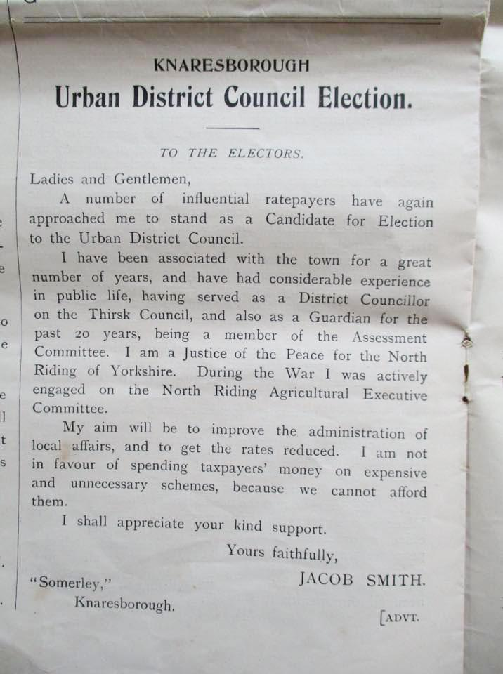 Urban District Council Letter